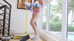 BANGBROS - Hot Latina Maid Selena Santana Polishes Knobs
