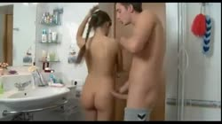 guy and girl in bathroom