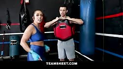Fat Ass Teen Does KickBoxing and Fucking