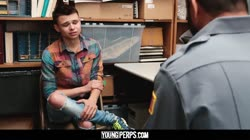 YoungPerps-Tiny bottom shoplifter pounded hard and deep by officer's Dick